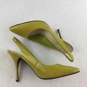 BCBGirls Alimie Mustard Lime Slingback Pumps
